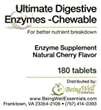 Ultimate Digestive Enzymes Chewable for better Nutrient Breakdown 180 Tablets For Sale