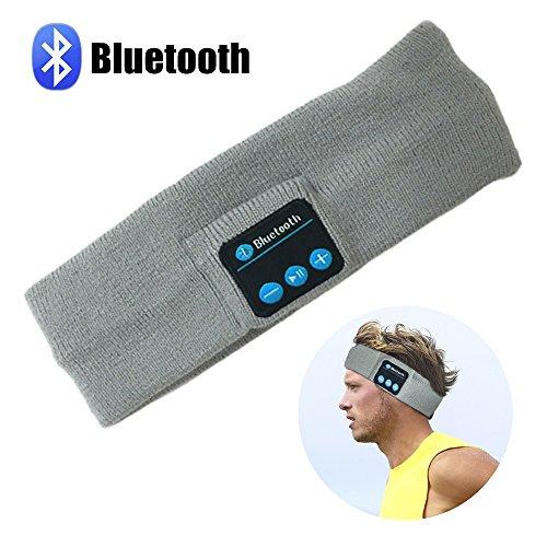 Bluetooth Music Headband, LC-dolida Wireless Bluetooth Stereo Headband Headphones Headset Earbuds Sport Running Yoga Sleeping Headband Gray