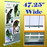 47.25'' X 78'' Retractable Roll up Banner Stand Trade Show Display 48'' (Hardware Only)