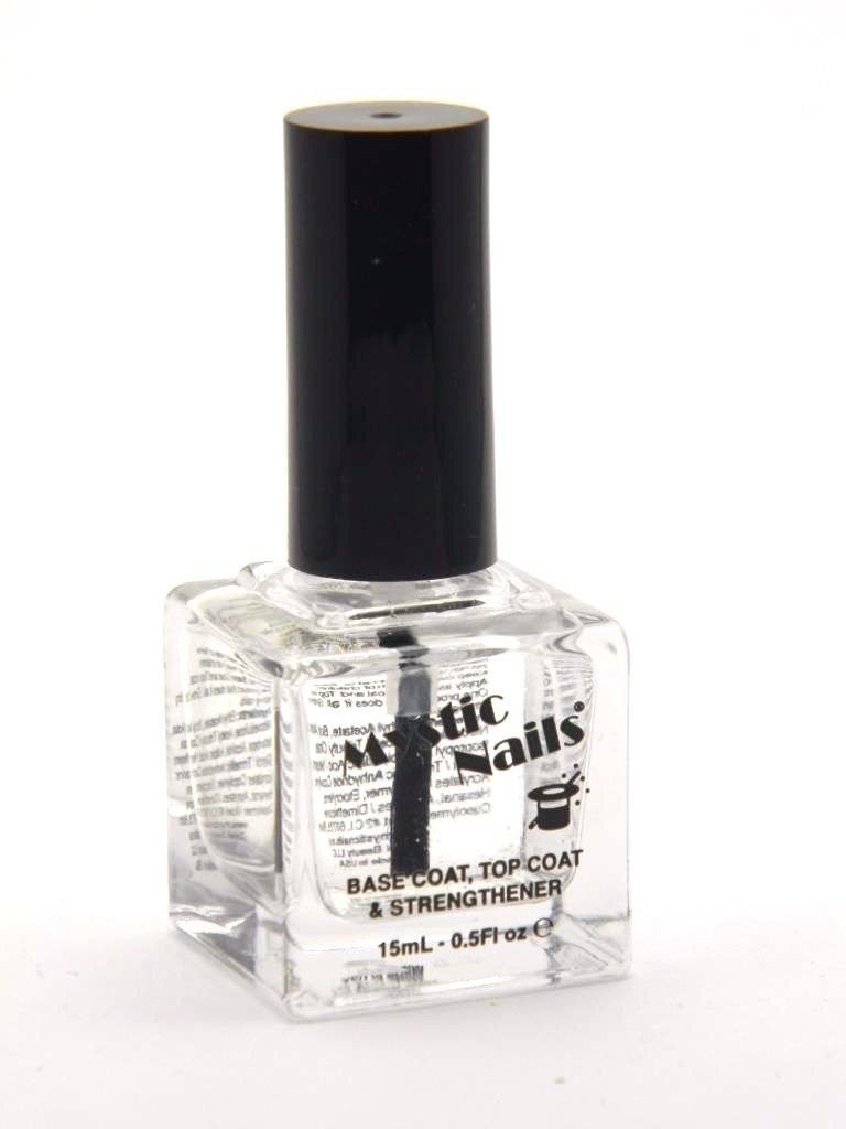 Amazon.com : MYSTIC NAILS Base Coat Top Coat Strengthener Nail ...