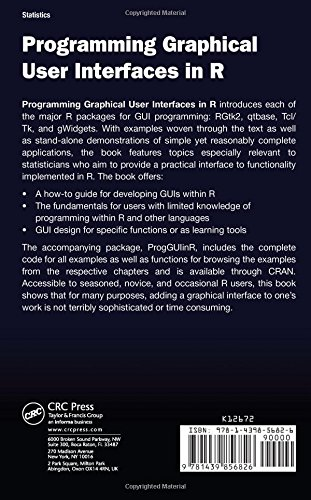 Programming Graphical User Interfaces in R (Chapman & Hall/CRC The R Series)