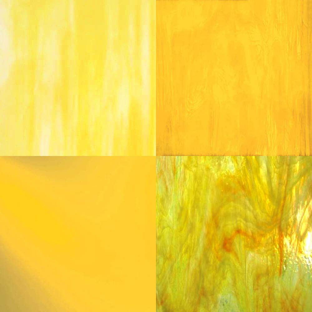 YELLOW Stained Glass Sheet Pack by Sun and Moon Stained Glass