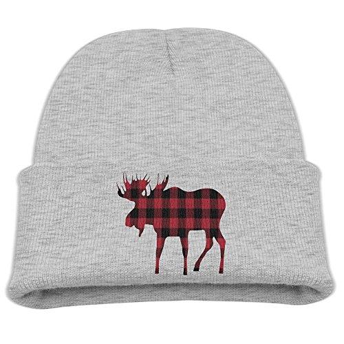 Captain America Fleece Hat - ZWZ Buffalo Plaid Moose Lumberjack Kid's