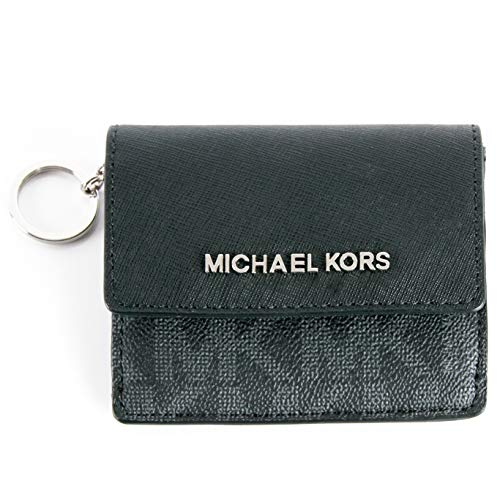 vel Leather Credit Card Case ID Key Holder Wallet in Black GOLD ()