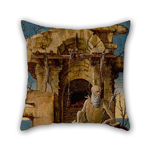 Ferdinand Chairs Best - Alphadecor Pillow Shams Of Oil Painting Ercole De'Roberti - Saint Jerome In The Wilderness 20 X 20 Inches / 50 By 50 Cm,best Fit For Family,deck Chair,girls,wedding,floor,bedroom 2 Sides