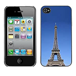 Paccase / SLIM PC / Aliminium Casa Carcasa Funda Case Cover - Architecture The Eiffel Tower Tour - Apple Iphone 4 / 4S