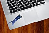 """Cosmic Cat Jumping - D1 - Star Cat Galaxy - Vinyl Trackpad Tablet Laptop Decal Sticker - Copyright 2015 YYDC (Size Variations Available) (SMALL 3.5""""w x 1.25""""h)"""