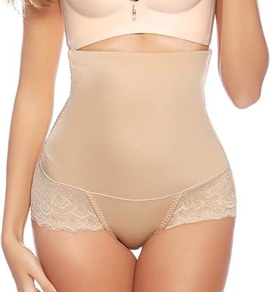 Women/'s Modal High Waist Shaper Abdomen Slimming Control Brief Lace Underpants