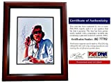Richard Petty Autographed Photo - Race Car Driver 8x8 inch MAHOGANY CUSTOM FRAME Certificate of Authenticity COA) - PSA/DNA Certified