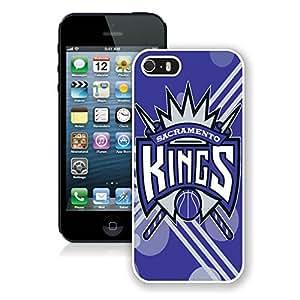 New Custom Design Cover Case For iPhone 5s Generation Sacramento Kings 12 White Phone Case