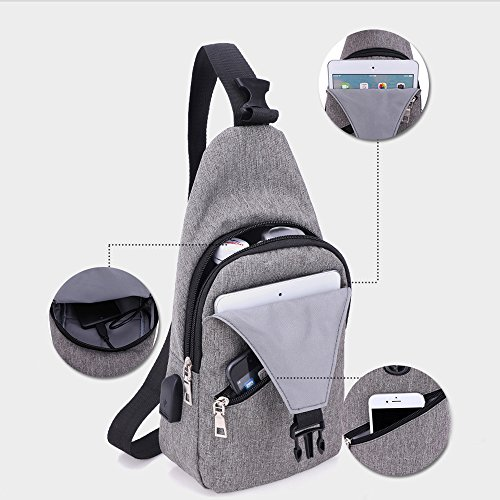 Women Unbalance Bonane Backpack Hiking Cycling Travel Gray Men Chest Bag For Crossbody Sling Running Outdoor Climbing Shoulder And rYfSYwqzx