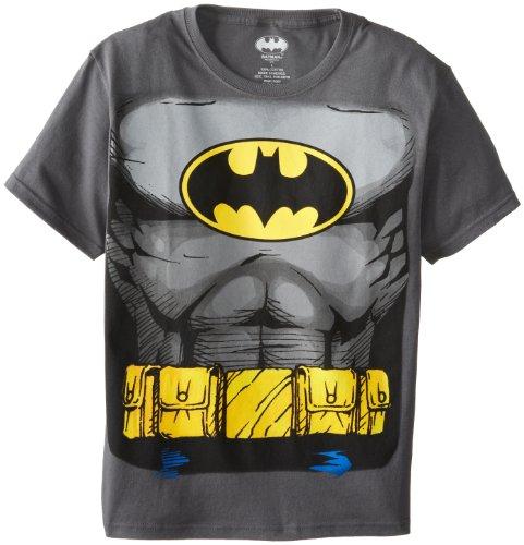 Batman Costume Boys Chronicle Muscle Tee, Grey, Large