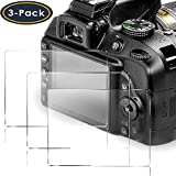QIBOX Screen Protector Compatible Nikon D3400 D3500 D3300 D3200 D3100 DSLR...
