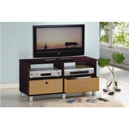 Furinno 11156ex br entertainment center w 2 bin drawers for M furniture collin creek mall