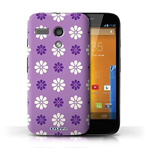 Etui / Coque pour Motorola MOTO G (2013) / Violet conception / Collection de Motif avec pétales