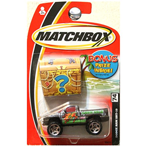 Dodge Ram Srt 10 Truck (Matchbox Treasure Inside Dodge Ram SRT-10 SRT10 Truck Hero City Black #74)
