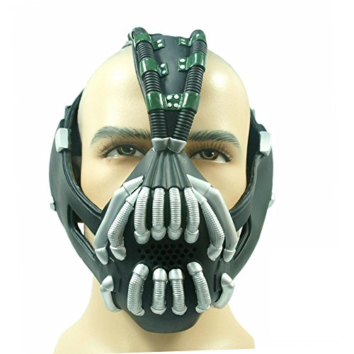 Xcoser Bane Mask Costume Batman TDKR Full Adult Size V2 version]()