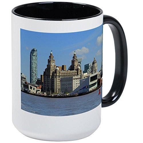 CafePress Liverpool Waterfront Mugs Coffee Mug, Large 15 oz. White Coffee Cup