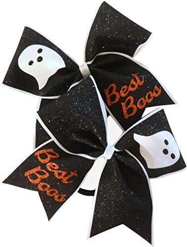 Sparkle Bows Cheer Halloween Cheer Bow (Best Boos Set of (Halloween Sparkle)