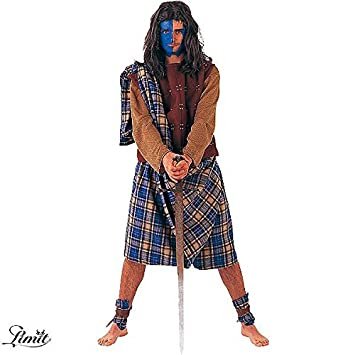 Desconocido Disfraz de guerrero escocés para hombre: Amazon.es ...