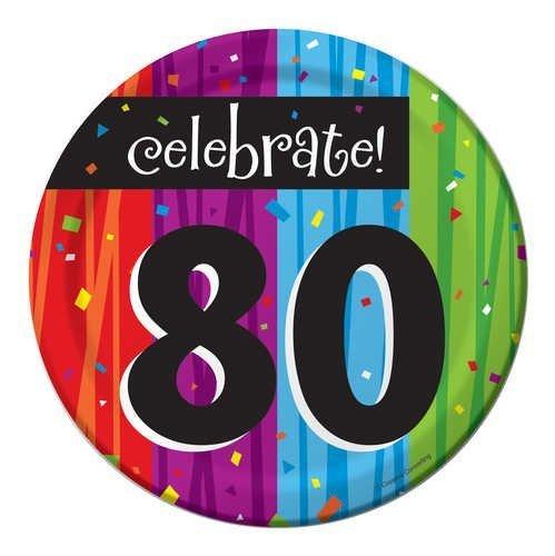 Creative Converting Milestone Celebrations Round Dessert Plates, 24-Count,