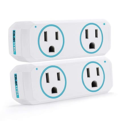 Smart Plug, OUKITEL Dual Mini Wifi Outlet Compatible with Alexa, Google  Assistant & IFTTT, Voice APP Remote, No Hub Required, ETL & FCC Certified,