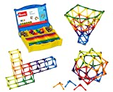 Goobi 180 Piece Construction Set with Instruction Booklet | STEM Learning | Assorted Rainbow colors