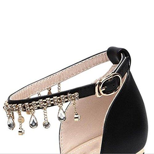 moda MUMA Zapatos de de Modelos la coreano 2018 de Zapatos femeninos Negro negra tacón de marea primavera blanca altos con Zapatos primavera tacón Zapatos salva Nuevos Zapatos Tacones grueso de individuales ffwqdr