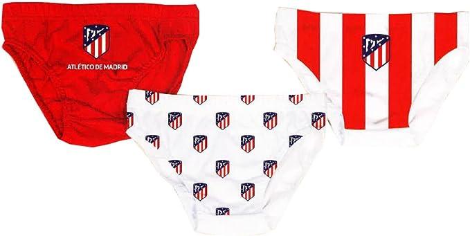Pack 3 Slip Atletico de Madrid 4-10 Años (8 años): Amazon.es: Ropa ...
