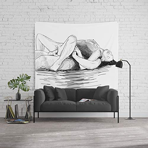 Society6 Wall Tapestry, Size Large: 88'' x 104'', Sex by The sea by alexanderchalooupka by Society6