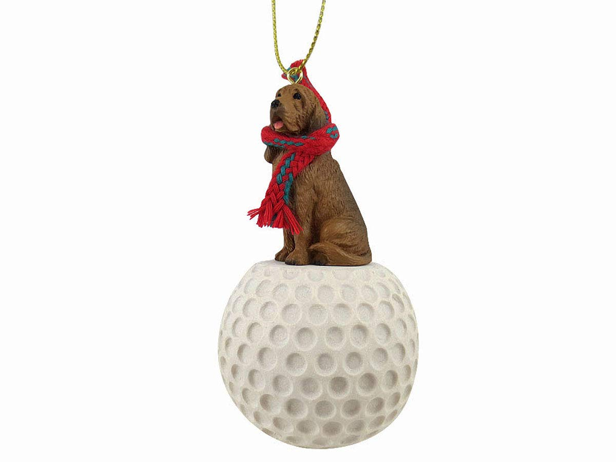 Conversation Concepts: Bloodhound Golf Sports Fan, Christmas Tree Ornament, Gift, Holiday Home Décor, Festive Figurine