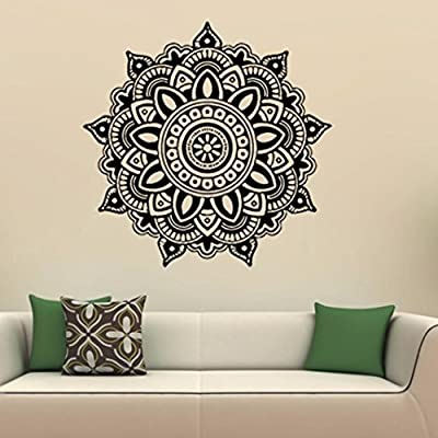 Iuhan Fashion Mandala Flower Indian Bedroom Wall Decal Art Stickers Mural Home Vinyl Family