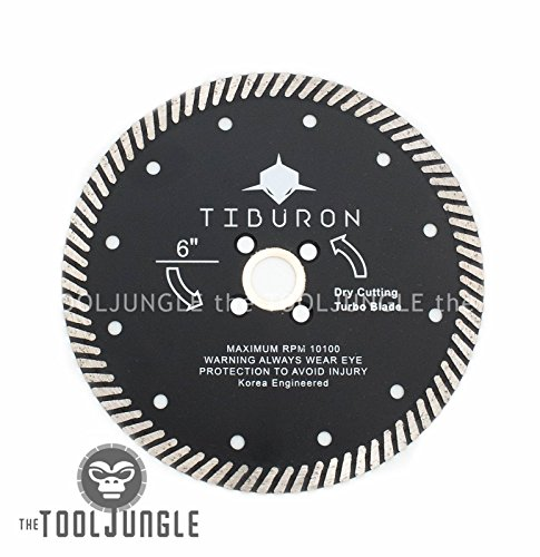 Tiburon 5 Inch High Performance Diamond Turbo Blades for Stone,Glass Concrete,brick (5 ()
