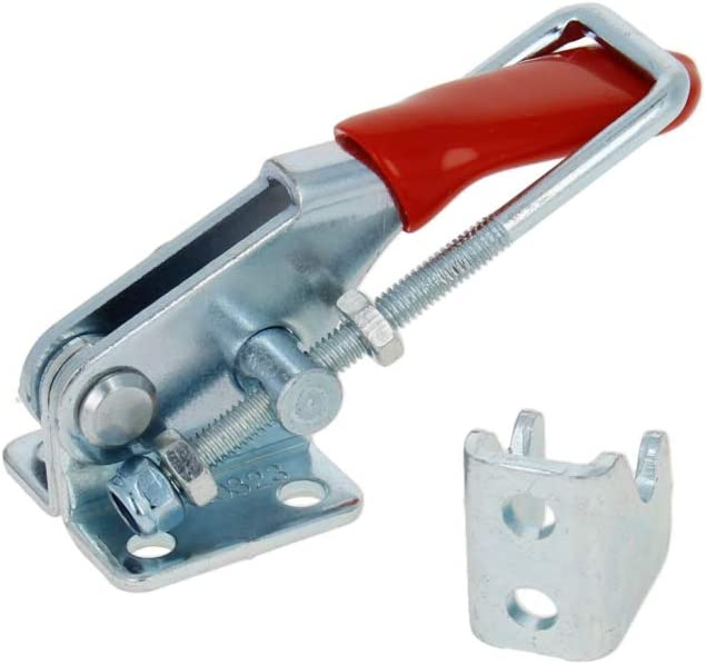 Utoolmart Hand Tool Toggle Latch Clamp 400 Medium Red 250lbs Hold Down Toggle Clamps Latch Horizontal SpCC Quick Release Tool 2pcs