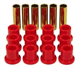 Prothane 6-1001 Red Rear Spring Eye and Shackle Bushing Kit