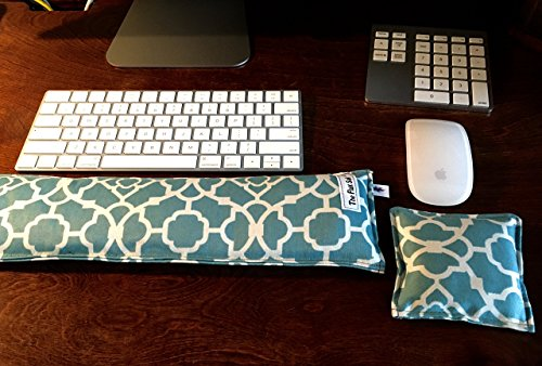 (Keyboard and mouse pad wrist rest. Ergonomic! Your choice of unscented, Organic Lavender, peppermint, Eucalyptus, or Chamomile..)