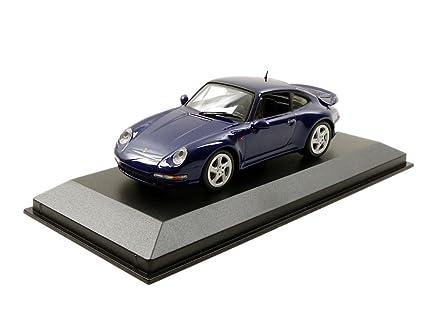 Maxichamps 1/43 Scale 940 069201 - 1993 Porsche 911 Turbo 993 - Metallic Blue