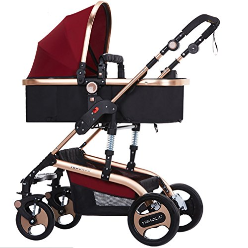 YBL Toddler City Select Baby Stroller for Infant Anti-shock Infant Pram Stroller Newborn kids Luxury High View Rubber Four Wheels Folding Convertible For Sale