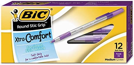 Round Comfort Ballpoint Purple Medium