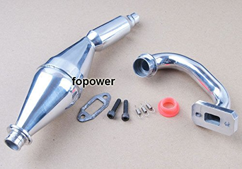 Toyoutdoorparts 15003 Aluminum Exhaust pipe RC HSP FG 1:5 Monster Truck