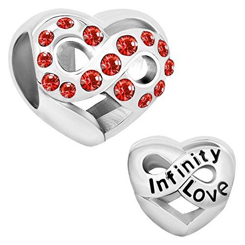 CharmsStory Infinity Jan Dec Birthstone Bracelet