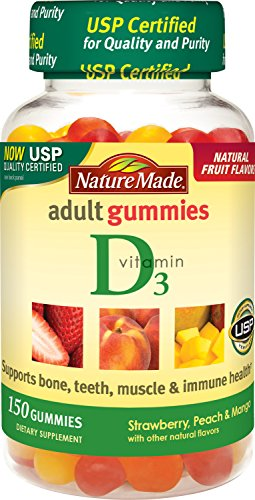 Nature Made Vitamin D3 Adult Gummies (2,000 IU per serving) Value Size 150 Ct
