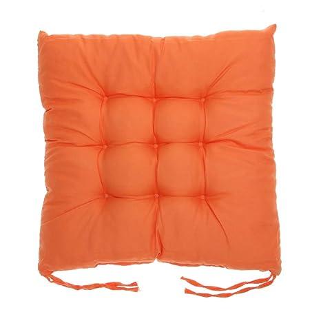 Amazon.com: Cojines cuadrados de algodón para silla, suaves ...