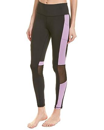 c42537a56d9 BEBE SPORT Women's Color Block Contour Leggings Black/Lilac Grey Small 25