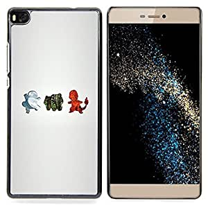 - P0kemon Elements - - Cubierta del caso de impacto con el patr??n Art Designs FOR HUAWEI P8 Queen Pattern