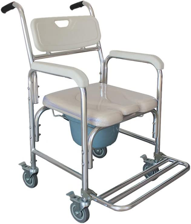 Rolling Shower and Commode Transport Wheelchair