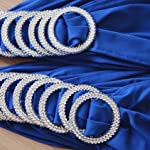 Kate Princess 50PCS Spandex Chair Sashes Bows Elastic Chair Bands With Buckle Slider Sashes Bows For Wedding Decorations Without White Covers