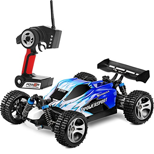 WLtoys RC Cars 1:18 Scale RTR High Speed Remote control Racing Buggy 4WD Off Road Truck Electric Fast Race Hobby Vehicle Toy- A959Blue