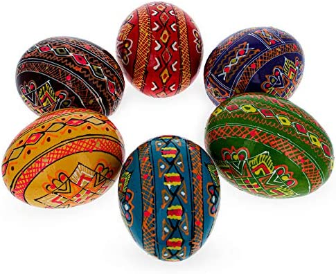 Set of 5 Ukrainian Painted Wooden Easter Eggs  Pysanky Pysanka Ukrainian Pysanky Easter Gift UKRAINE \u0423\u043a\u0440\u0430\u0457\u043d\u0430 Ukrainian souvenir 2,25