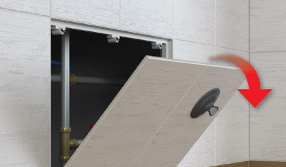 Upmann Trappe d'inspection Ré vision Rabat Magné tique sol carrelé : 400 x 200 mm Havos